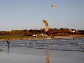 Kite Surfing at Harbour View Strand, Kilbrittain
